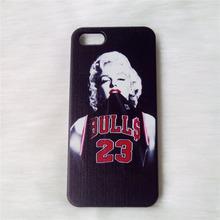 Phone cases Marilyn Monroe Chicago Bulls Michael Jordan No.23 Jersey Hard Cover For iPhone 5 5s 4 4s cell phone case accessories