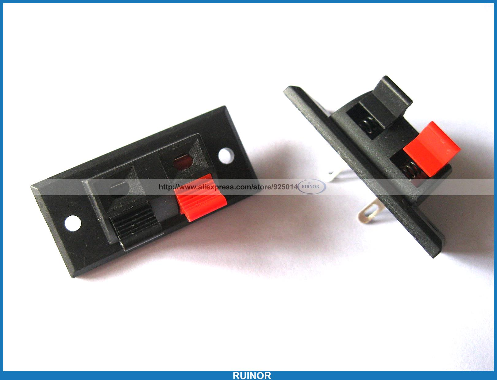 30 Pcs WP Push Type Speaker Terminal Board Connector 44 8mmx21mm 2pin WP2-3(China (Mainland))