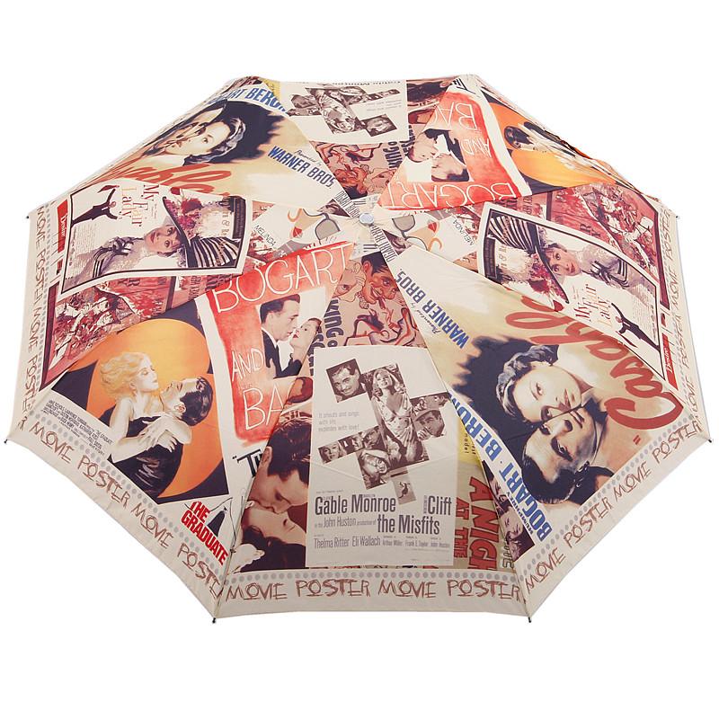 Free Shipping Unique Designer Classic Hollywood Movie Love Story Automatic Sun/Rain Umbrella Anti-uv Three Fold Umbrella(China (Mainland))