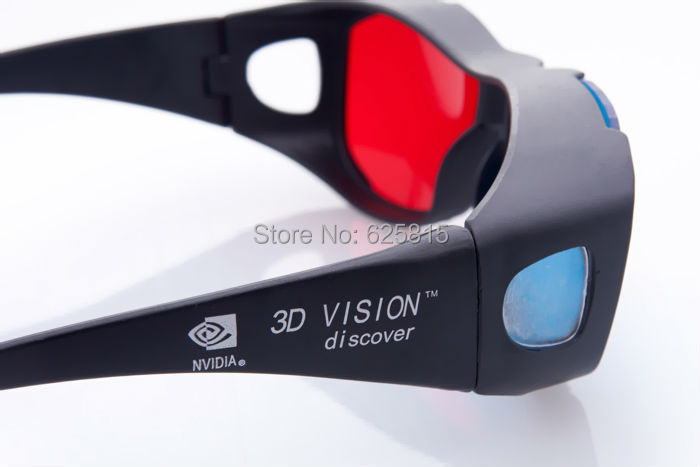 2015 Universal type 3D glasses/ Color Red Blue Cyan 3D glasses Anaglyph 3D Plastic glasses(China (Mainland))