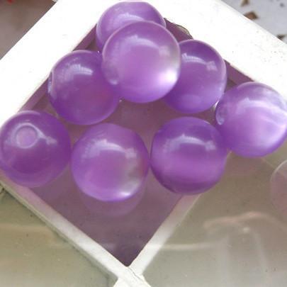 Purple 6mm 8mm 10mm 12mm Cat Evil Eye Acrylic Resin Beads DIY Jewelry Wholesale RE-34(China (Mainland))