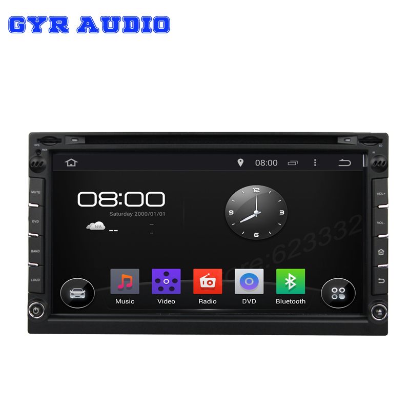 2 din universal dvd player Capacitive Screen Android 4.4 Car PC head Deck DVD gps Player GPS Navigation 3G WIFI BT TV PIP(China (Mainland))