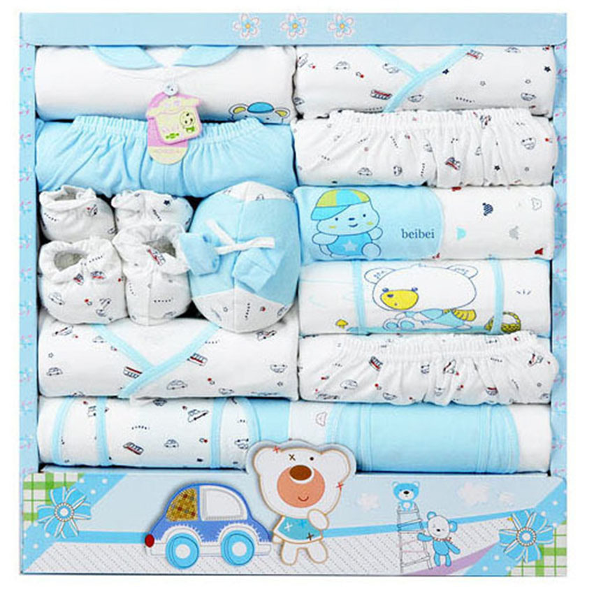 new 2015 100% cotton newborn baby clothing sets 15pcs infants suit baby girls boys clothes(China (Mainland))
