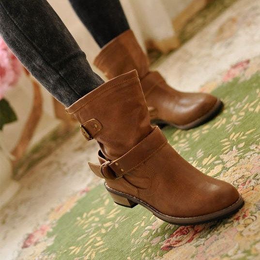 Martin boots boots tube British Flat Boots 2014 new autumn and winter shoes boots in European and American leisure