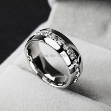 HOTsale Fashion top nice new pretty smooth full rhinestone silvery women Stainless steel Ring fashion rings Jewelry LT419