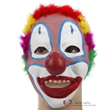 Free Shipping Joker Mask Soft Rubber Cool Funny Scary Halloween Party Costumes Toy Dress Make up Horror Prank Joke Supply Gifts(China (Mainland))