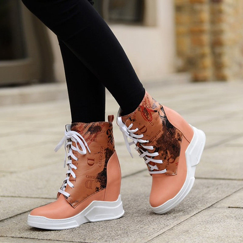 Autumn And Winter Fashion Women Boots Leisure Snow Boots Ladies Wedge Shoes Woman Ankle Boots Zapatos Mujer 34-43 Puls Size