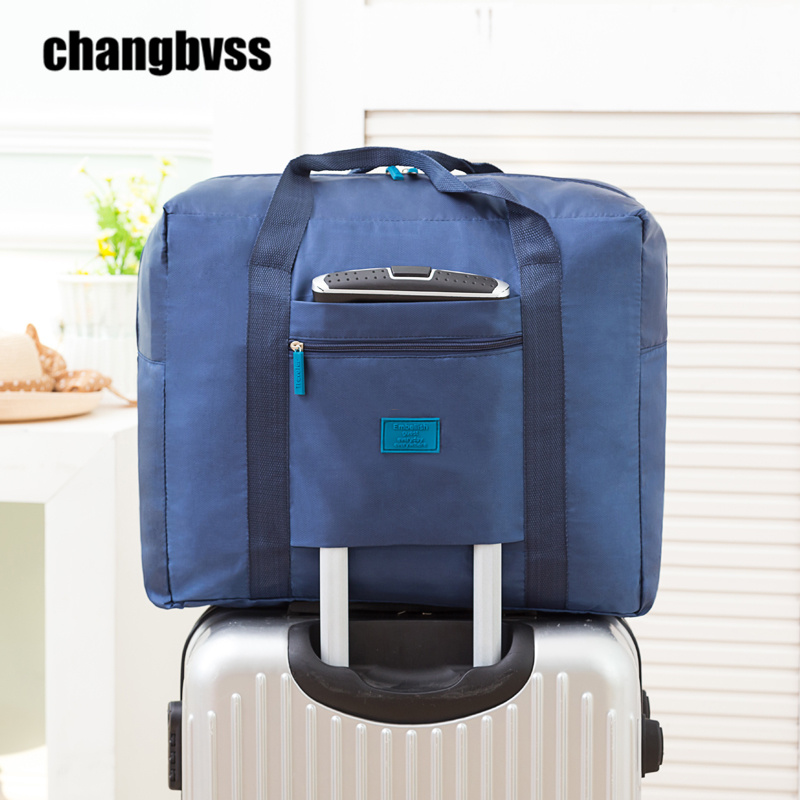32L Waterproof Oxford Luggage Bag Large Capacity Clothes Storage Bag For Travel Home Travel Organizer Portable Suitcase bolsa(China (Mainland))