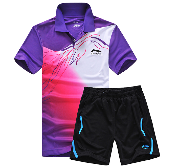 New LINING badminton set sport suit, table tennis clothes , badmiton shirt, Dry quick Men's badminton uniform,badminton jersey(China (Mainland))