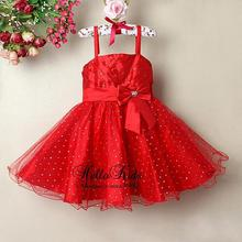 New Fashion Baby Girl Princess Dress Red With Bow Little Girl  Party Dress For Summer Formal Dress Wholesale Wear GD21203-09^^HK(China (Mainland))