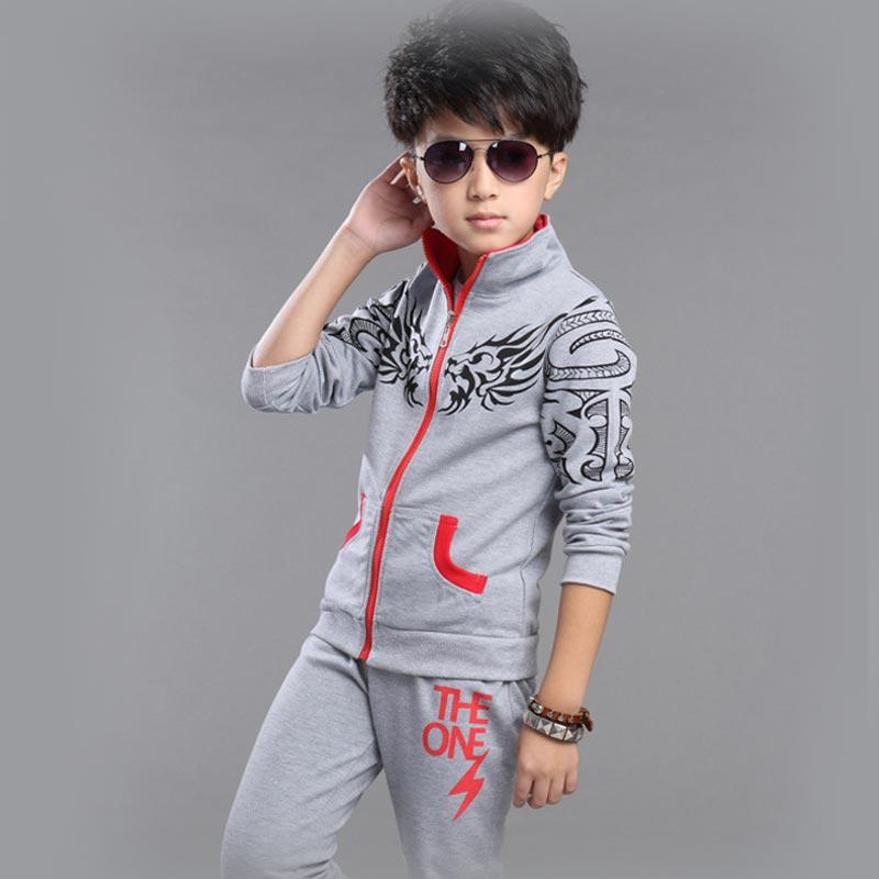 Spring Autumn Boys Clothing Set Cartoon Boy Coat+Pants 2pcs Set Boys Sports Suit Kids Clothes for 5-10 Years(China (Mainland))