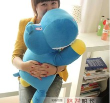 the biggest cute lovely creative hippo toy plush doll cartoon blue hippo doll birthday gift toy about 85cm