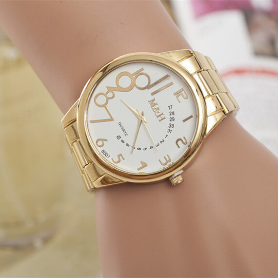 GUOTE Luxury Brand Women Quartz watch 2016 Fashion Gold Steel Watch Analog Dress Men Casual Wristwatch Relogio Clock - BXboxue Store store