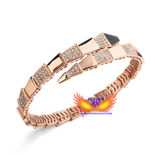 ITALINA Rigant!Rose gold plated Austria Rhinestone window of the heart  2014 hottest  Jewelry Bracelets/Bangles for women(China (Mainland))