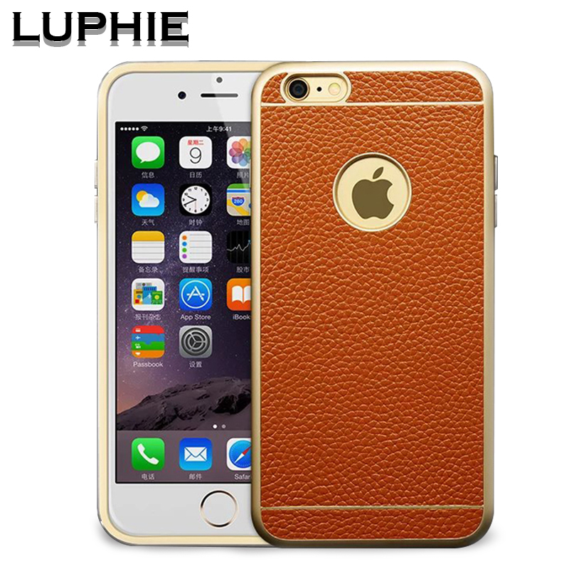 Luphie luxury Aluminum Frame case for font b iphone6 b font plus 5 5 phone cses