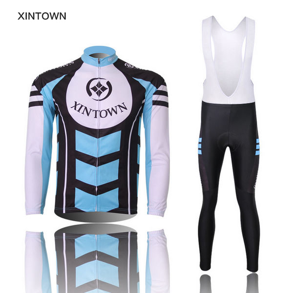 High quality! cycling jersey Bike suit Costume Long sleeve Jersey shirts(Bib )Long Pants cycling clothing WoMen quick dry CC0207