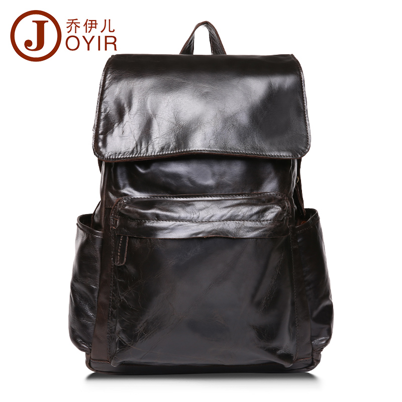 2016 New Arrival Genuine Leather Men Backpack Man Cowhide Leather Causal Backpack Vintage Outdoor Sport Travel Bags For Men Bag(China (Mainland))
