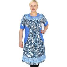 BFDADI 2016 модное элегантное напечатаны летом свободно платье Большой размер женская одежда платье свободного покроя кукла воротник с коротким рукавами 2111 - 0(China (Mainland))