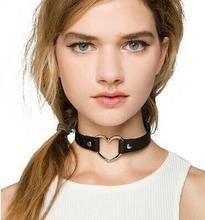 Мода ювелирные изделия простой кожаный трубки колье ожерелье подарок для женщины девушка N1865(China (Mainland))