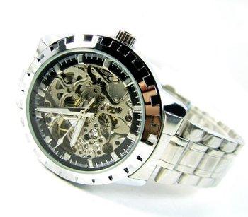 SINOBI_MEN&BOY Transparent Gear Mechanical Wrist Watch for Present_Cool_FREE SHIPPING_wholesale&retail