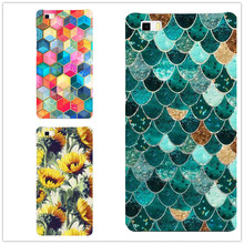 Buy New Fashion Colorful Fish Scales flowers Phone Cases For Huawei P8 P9 Lite Hard Plastic Shell for $1.34 in AliExpress store