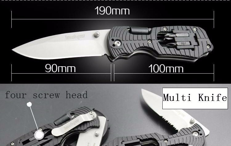 Buy Multi Function Knife Kershaw Pocket Folding Knife 8CR13MOV Blade Survival Tactical Hunting Knifes Camping Knives Outdoor Tools x cheap