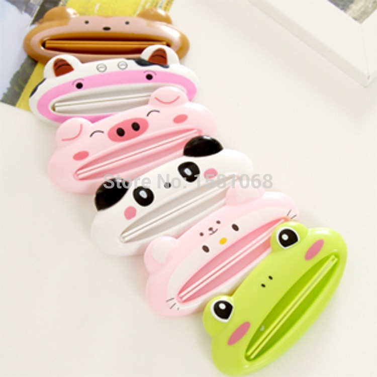 1pcs Cute Animal multifunction squeezer / toothpaste squeezer Home Commodity Bathroom Tube Cartoon Toothpaste Dispenser(China (Mainland))