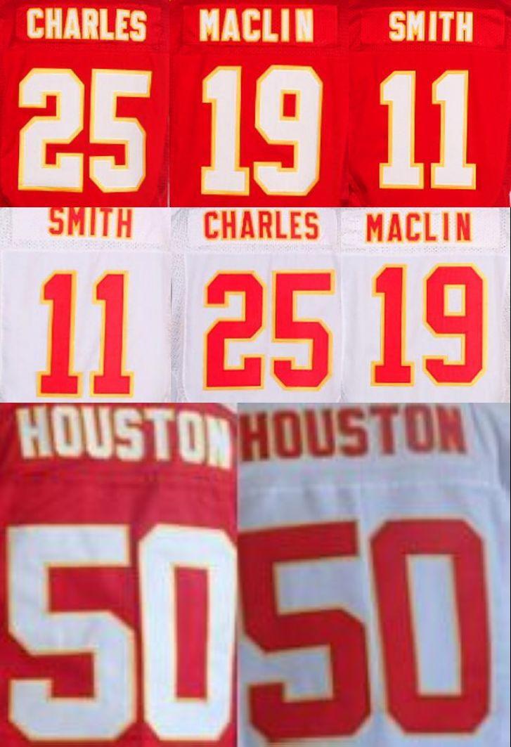 Mens 19 Jeremy Maclin jersey 11 Alex Smith 25 Jamaal Charles stitched Sports shirts size M-3XL(China (Mainland))
