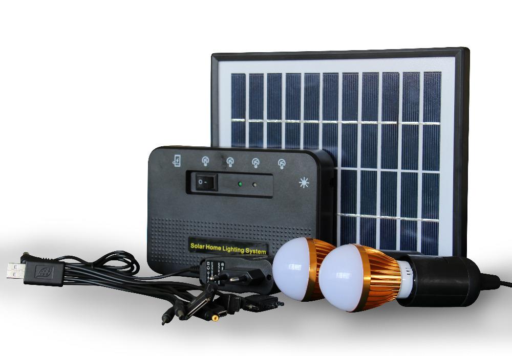 Solar generator 4w home solar system and portable solar - Lamparas solares de led ...