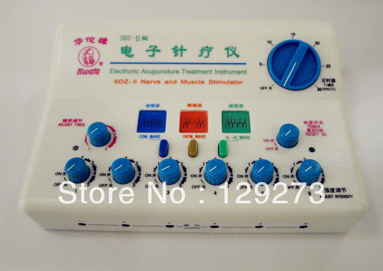 HuaTuo Electronic Acupuncture Equipment 6 Channels Output Nerve and Muscle Stimulator (110V or 220V)(China (Mainland))
