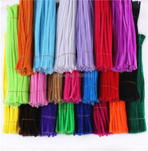 100pcs 6mm x 300mm Chenille Stems Twist Wire Stems Pipe Cleaners Children Handmade Education Decorative Flowers & Wreaths(China (Mainland))