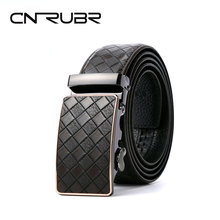 Buy CNRUBR Cowskin Weave Mens Luxury Belts Vintage Genuine Leather Belts Plaid Automatic Buckle Pants Waistband Male Straps for $16.22 in AliExpress store