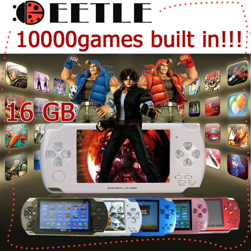 10000games! 16GB 4.3 inch LCD Screen MP4MP5 Player Games Console Handheld Game ebook/FM/1.3 MP Camera+Retail Package - factory electronic store
