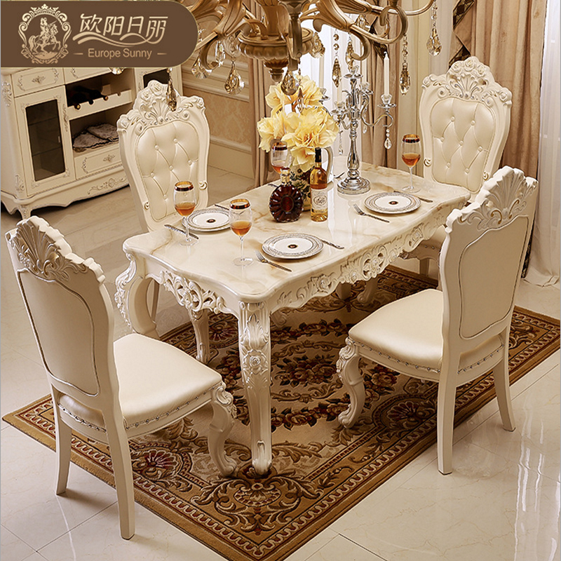 The Marble Dining Table Set Ottoman Chair Dining Room Furniture By