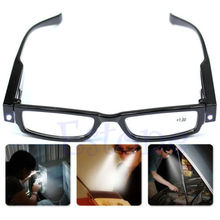 Free shiping Multi Strength LED Reading Glasses Eyeglass Spectacle Diopter Magnifier Light UP