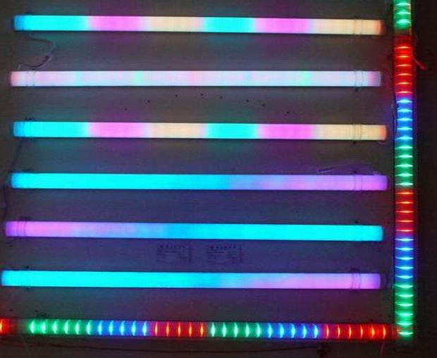 6 Pixels/M full color RGB LED Digital Tube,TM1809 IC,9W 108pcs Led,IP65 with Aluminum Base
