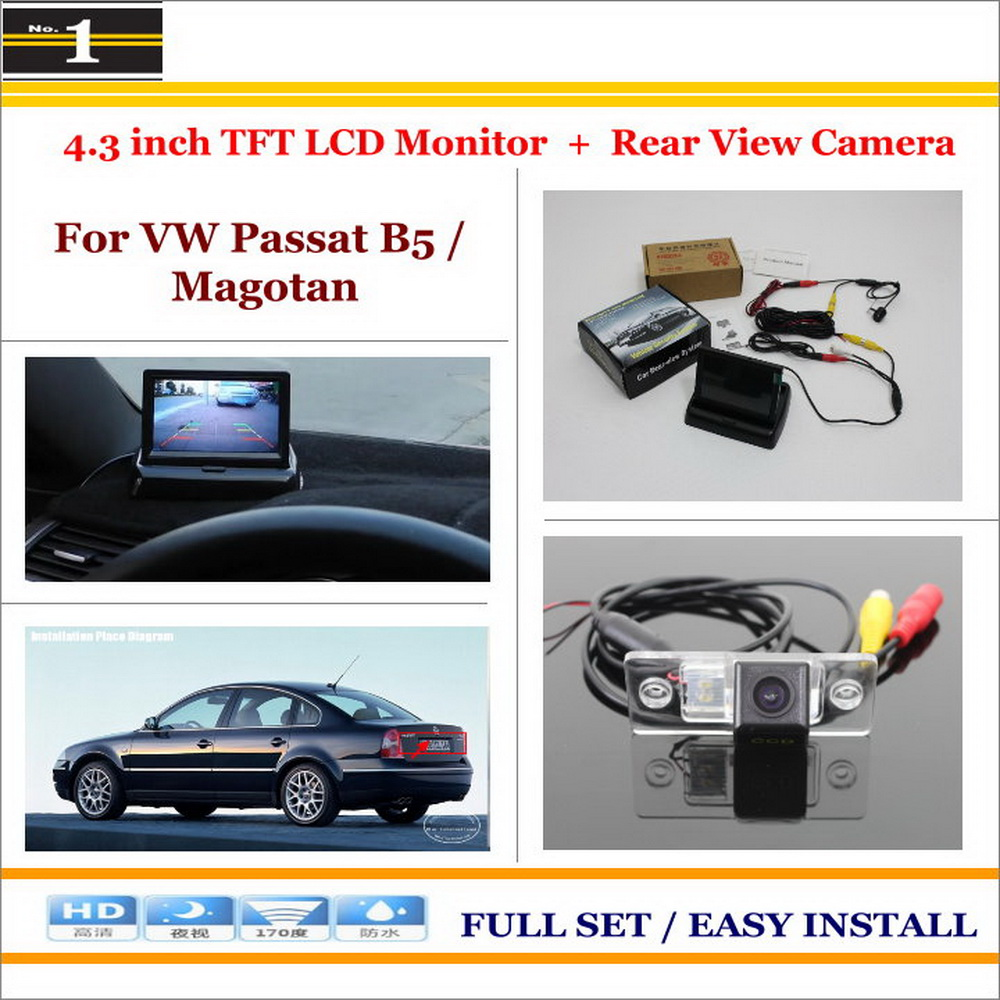 Car Rear Camera + 4.3 inch TFT LCD Screen Monitor = 2 1 Back Parking System - Volkswagen VW Passat B5 / Magotan 1996~2010 Xi DaDa Store store