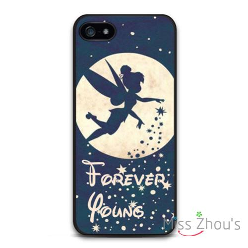 Forever Young Tinkerbell back skins mobile font b cellphone b font cases for iphone 4 4s
