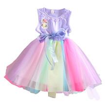 Toddler Kids Girls Bow One Piece Dress Princess Gauze Dresses Tutu Dresses 1-5T