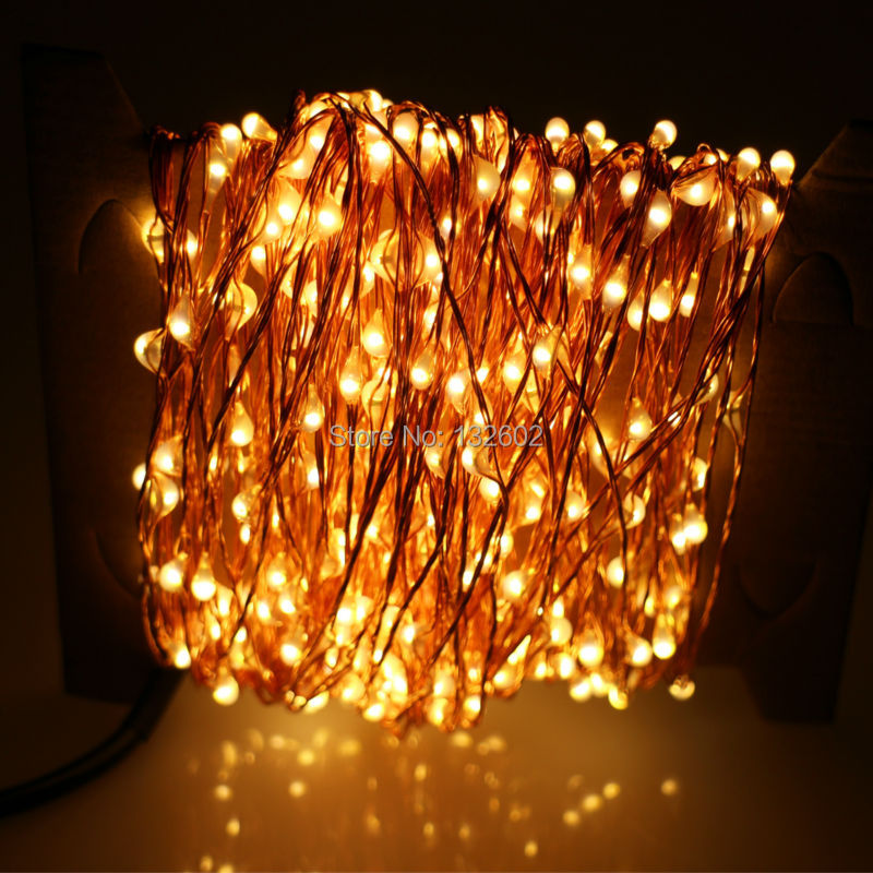 Starry String Lights Gold : 30m 300 LED Outdoor Christmas Fairy Lights Warm White Copper Wire LED String Lights Starry Light ...