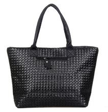 Weave Handbag Hot Selling Women PU Leather Cheap Handbag Tote Shoulder Bags Large Capacity PU Weave Bags Fashion Design