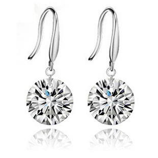Naked Drill Earring,925 Sterling Silver Material,Genuine Austria Crystal SWA Elements OE05