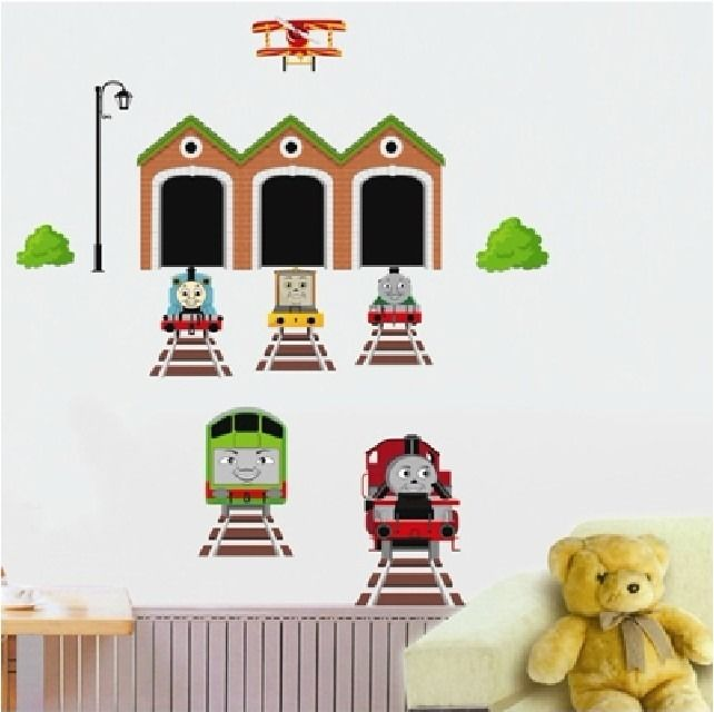 thomas the tank engine quote train wall decal sticker kids decor diy removable in wall stickers. Black Bedroom Furniture Sets. Home Design Ideas