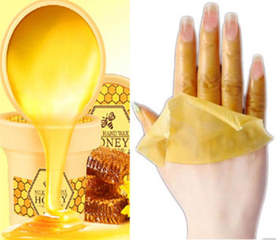 Hand Wax Honey Hot Wax 120g Treatment Hands Whitening Mask Skin Care Remove Dead Skin Peeling Exfoliator Spa Moisturizing(China (Mainland))
