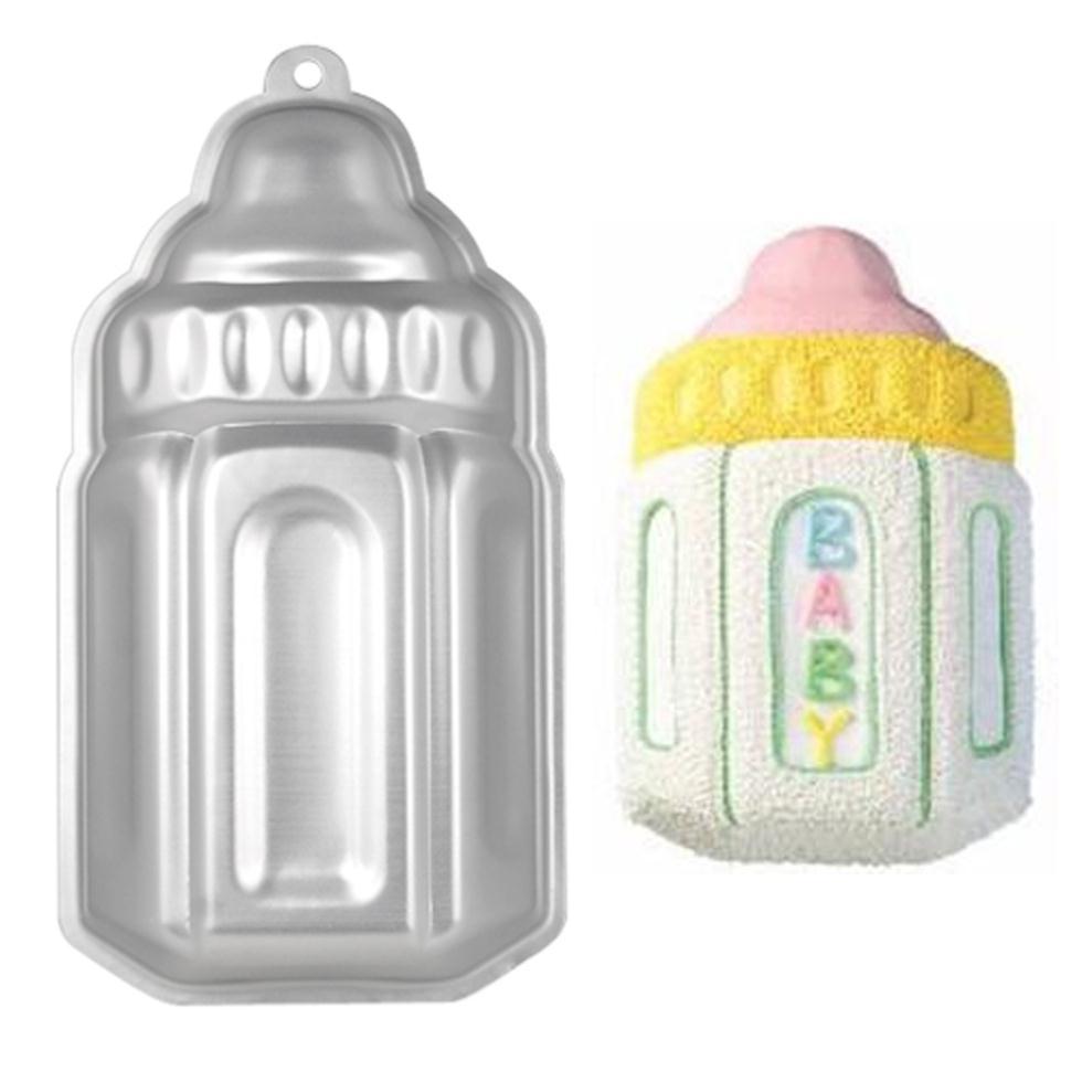 5 pcs New Baby Bottle Shaped Cake Baking Tin Ideal Baby Christening Shower Birthdays Gift(China (Mainland))