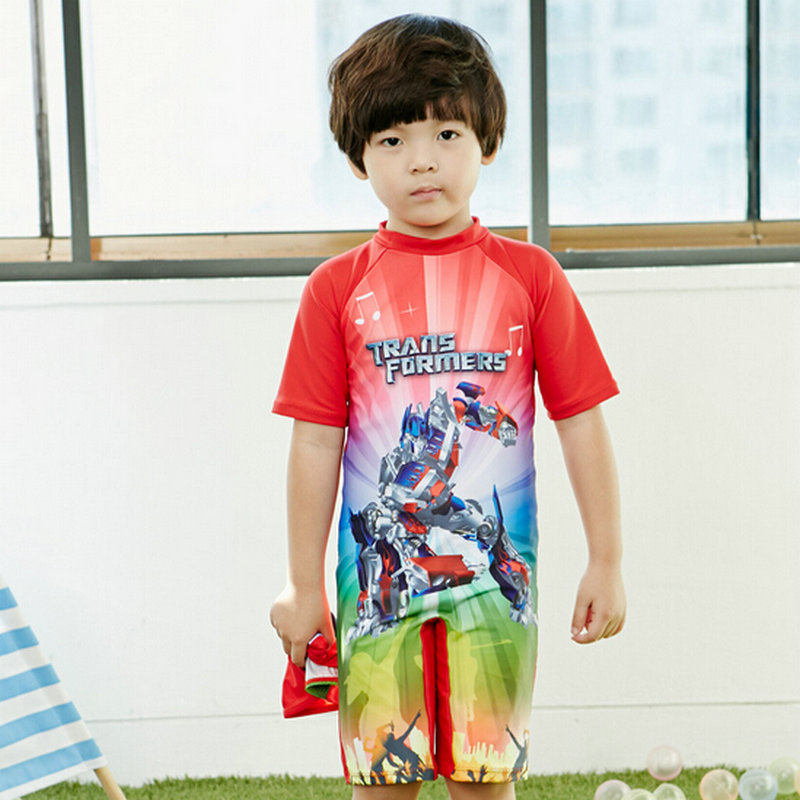 2-10year boys swimwear rash guard one piece swimsuit with character pattern kids summer swimming suits free shipping hot sale