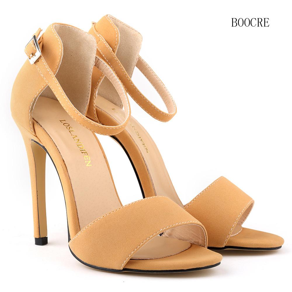 High Heel Ankle Strap Pumps