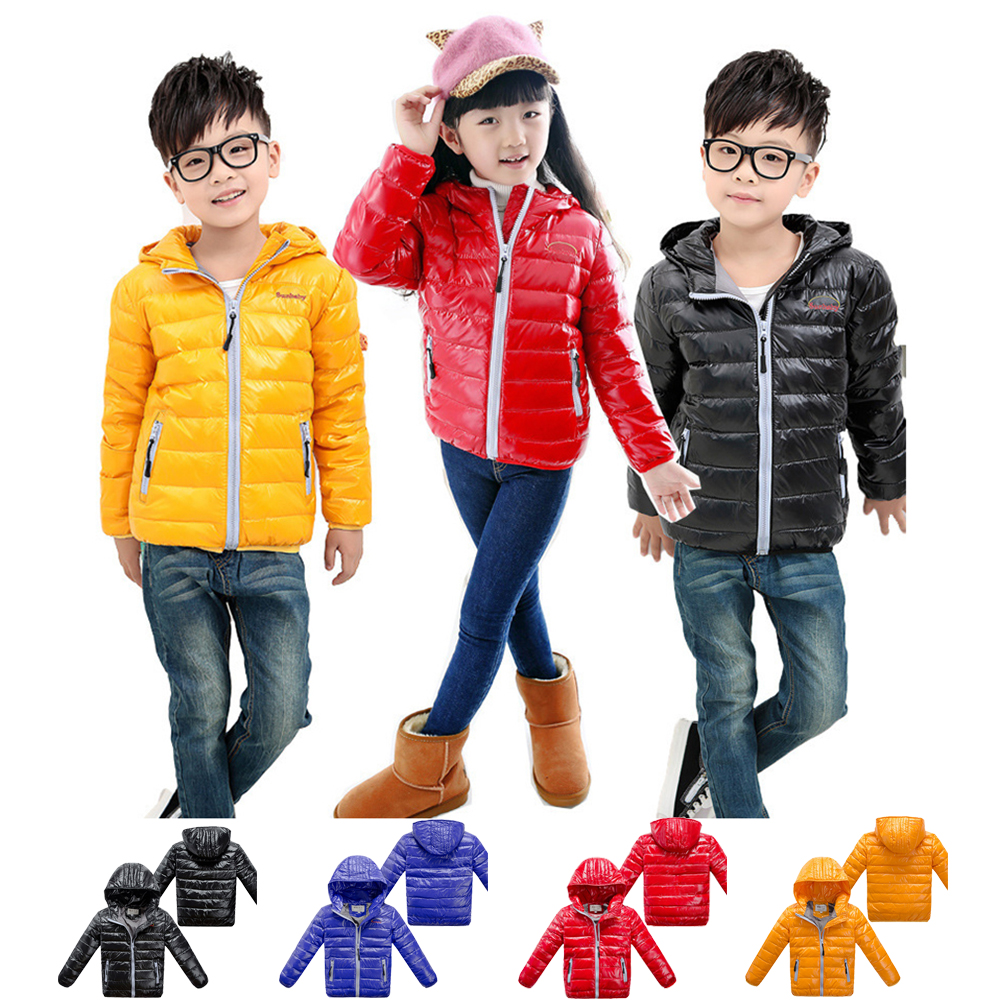 2016 New Winter and Spring Girls Clothing for Children Kids Clothes Boys and Girls Down Jacket Childrens Down Parkas