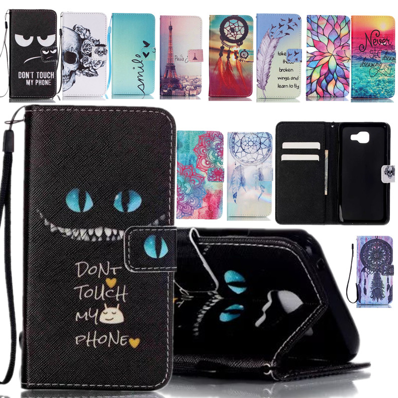 Brand Wallet Leather Cute Cartoon Pet Design Phone Case For Coque Samsung Galaxy A5 A510 Back Cover Card Holder Stand Fundas(China (Mainland))