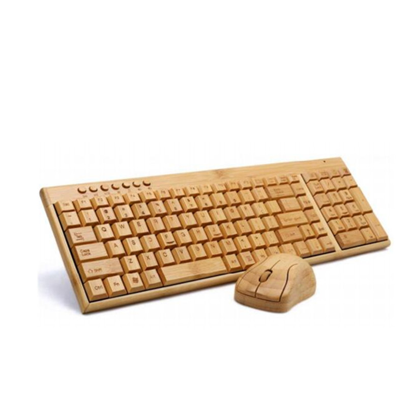 Best Keyboard and Mouse Combo Wireless Standard Ergonomics Bluetooth Keyboard 100% Bamboo Laptop and Desktop Mouse and Keyboard(China (Mainland))
